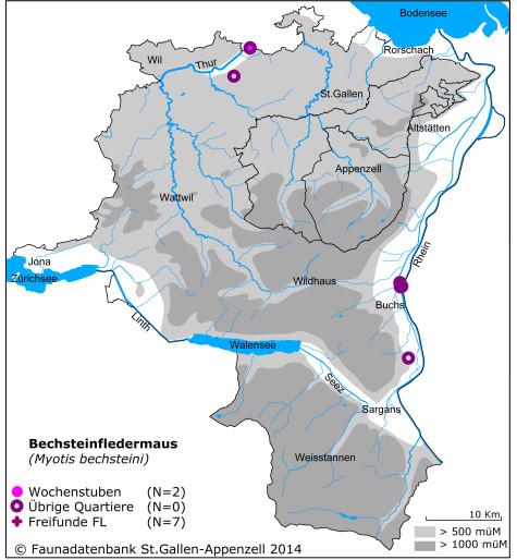 Fledermauskarte_Bechsteinfledermaus
