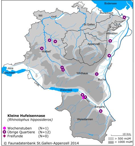 Fledermauskarte_Kleine Hufeisennase